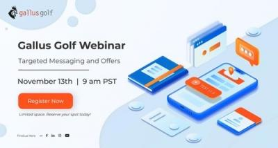 Gallus News | Gallus Golf To Host Educational Webinar On November 13th Featuring Launch Of New Marketing Tech Including Artificial Intelligence